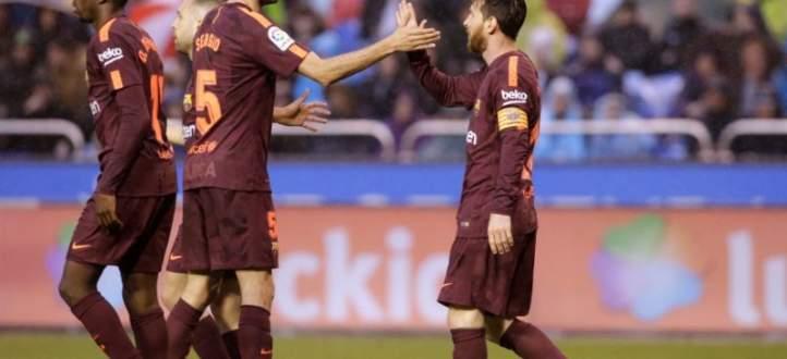 اهداف مباراة برشلونة وديبورتيفو لاكورونيا  الستة
