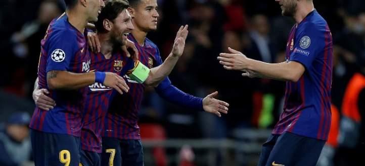 اهداف مباراة برشلونة وتوتنهام الستة في الجولة الثانية من دوري الابطال