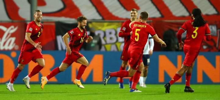 هدفا بلجيكا في مرمى منتخب إنكلترا
