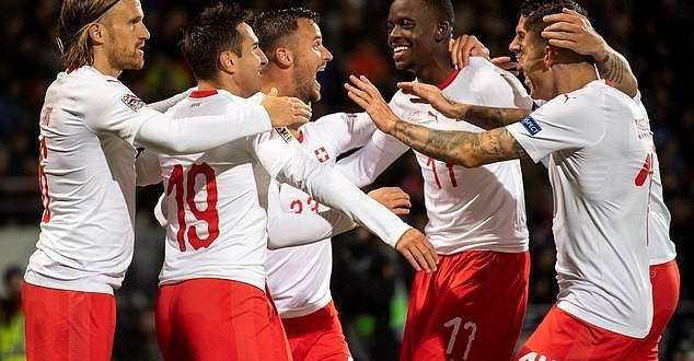 اهداف مباراة ايسلندا وسويسرا في دوري امم اوروبا