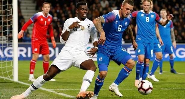 اهداف مباراة منتخب فرنسا وايسلندا الاربعة