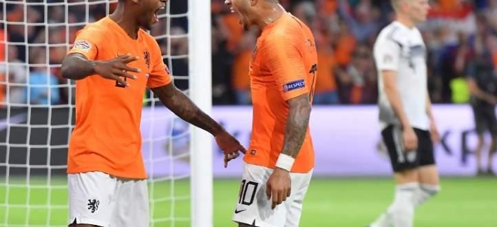 اهداف هولندا الثلاثة في المرمى الالماني