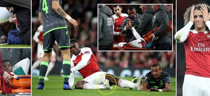 هكذا تعرض ويلباك الى الاصابة في مباراة لشبونة