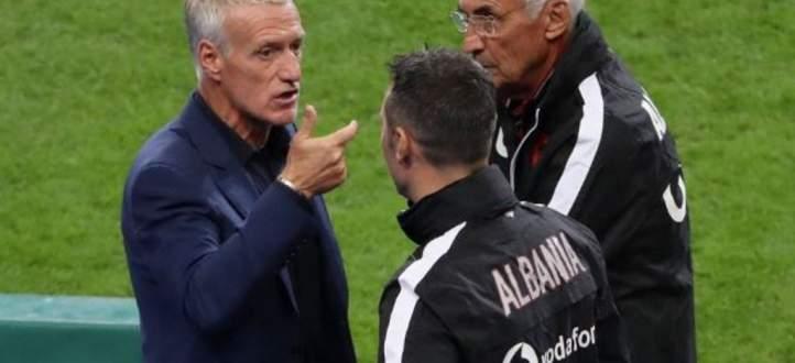 ديديه ديشان يعتذر من المنتخب الألباني