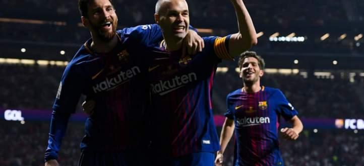 اهداف برشلونة الخمسة في نهائي كاس ملك اسبانيا