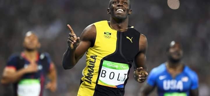 كوميدي يهزم اوسين بولت في سباق المئة متر