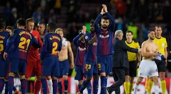 اهداف برشلونة وروما في ذهاب ربع نهائي دوري الابطال