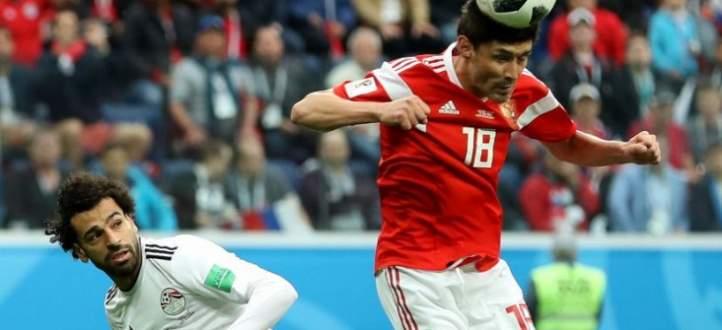 اهداف مباراة مصر وروسيا في الجولة الثانية من المجموعة الاولى