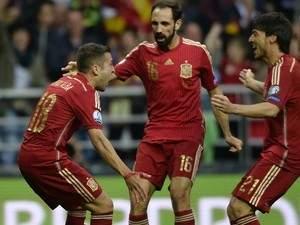 المنتخب الاسباني يغادر الى بلجيكا بحماية من الشرطة الاسبانية