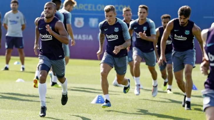 الحصة التدريبية الاخيرة لبرشلونة قبل الانتقال الى الولايات المتحدة