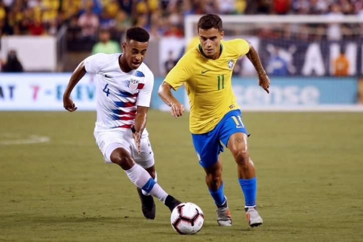 هدفا البرازيل في مرمى الولايات المتحدة الاميركية
