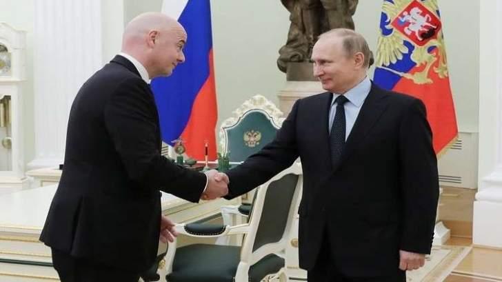 انفانتينو يبحث مع بوتين استعدادات روسيا لبطولة كأس العالم