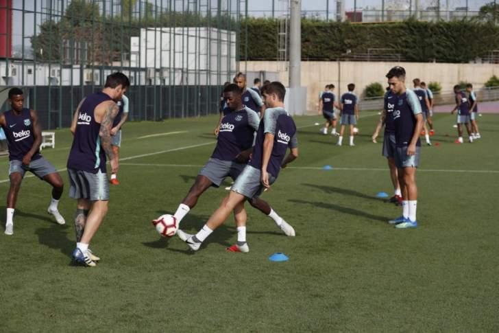 برشلونة يعود للتدريبات استعداداً لمواجهة بلد الوليد