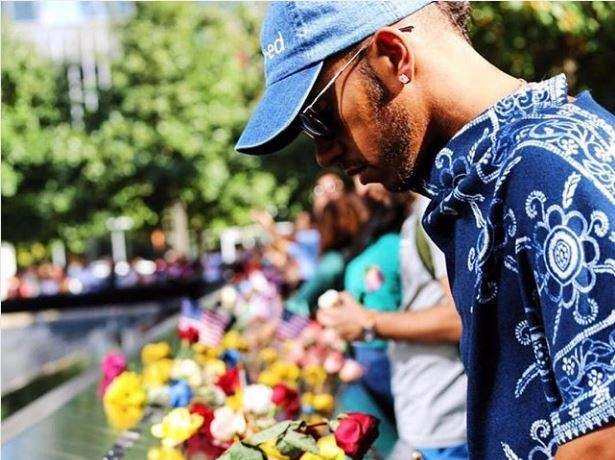 لويس هاميلتون يتذكّر ضحايا 9/11