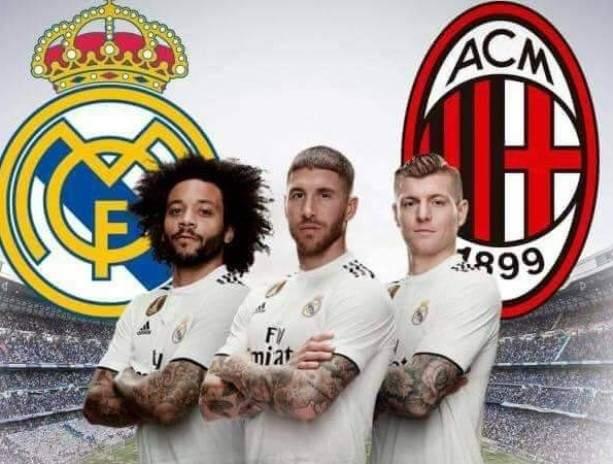 تشكيلتا ريال مدريد وميلان في كأس البرنابيو