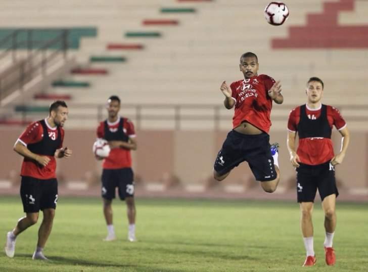 لقطات من الحصة التدريبية للاعبي الاتفاق السعودي