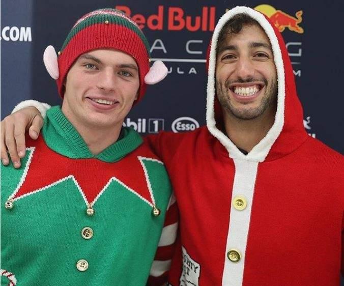 ريكياردو وفرستابن في جو عيد الميلاد
