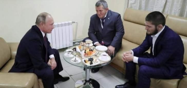 بوتين يطلب من والد نورماغوميدوف عدم معاقبة ابنه بشدة