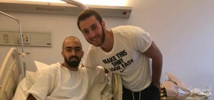 وائل عرقجي يزور ايلي شمعون في المستشفى