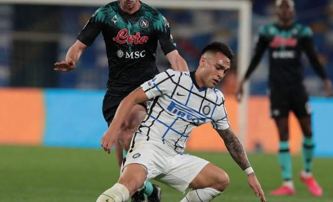 الدوري الإيطالي: الانتر يعود بنقطة واحدة من ملعب نابولي