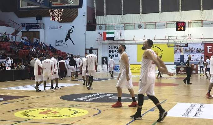 فادي الخطيب يسجل 30 نقطة مع المنتخب الاماراتي رغم الخسارة في بطولة دبي