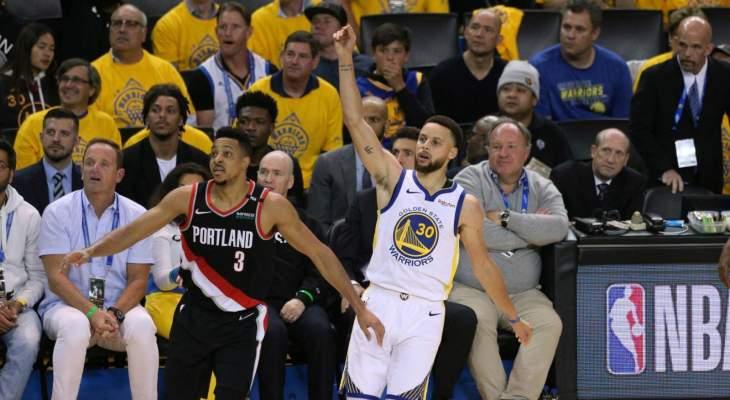NBA: ووريورز يتقدم 2-0 على بليزرز