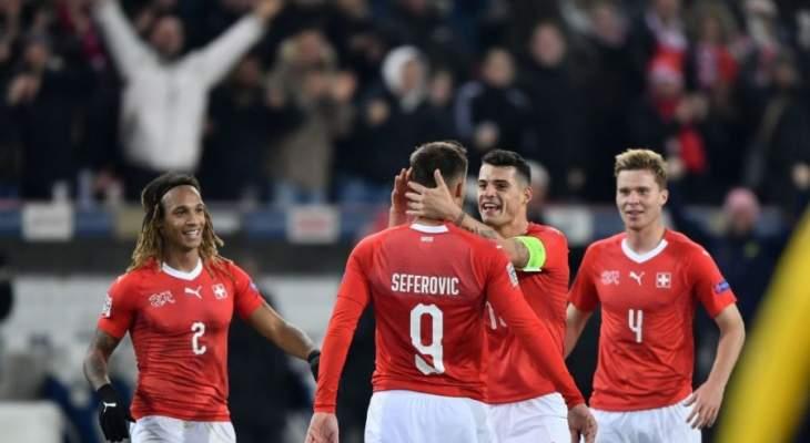سويسرا تقلب الطاولة على بلجيكا بخماسية وتُبعثر صدارتها