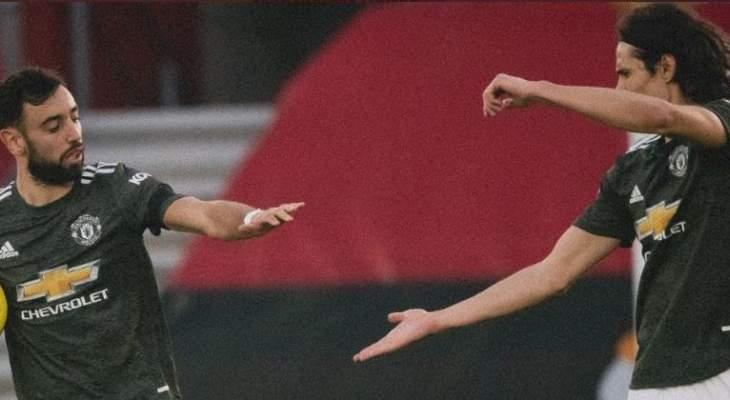 الدوري الإنكليزي: كافاني يتألق ويحرز الفوز لـ مانشستر يونايتد أمام ساوثامبتون