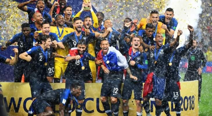 فرنسا في صدارة التصنيف العالمي لكرة القدم  وتراجع لالمانيا والارجنتين