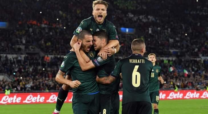 هدفا  ايطاليا في مرمى اليونان