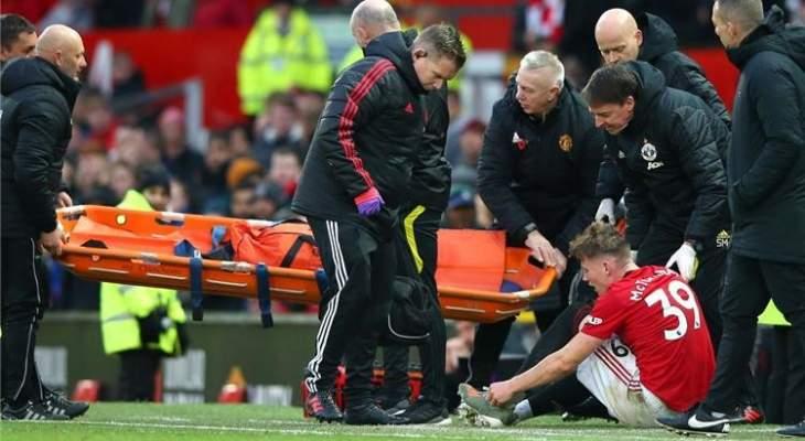 مانشستر يونايتد متخوف من خسارة لاعبه لفترة طويلة
