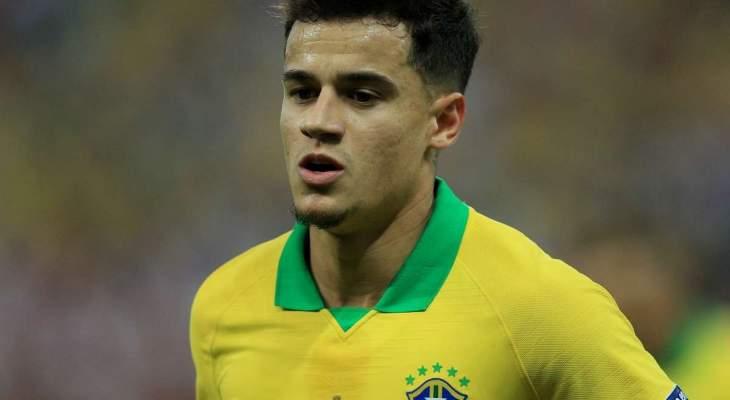 كوتينيو يغيب عن منتخب البرازيل امام فنزويلا واوروغواي