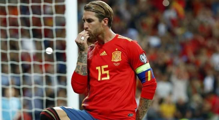سيرجيو راموس الأكثر مشاركة مع منتخب إسبانيا