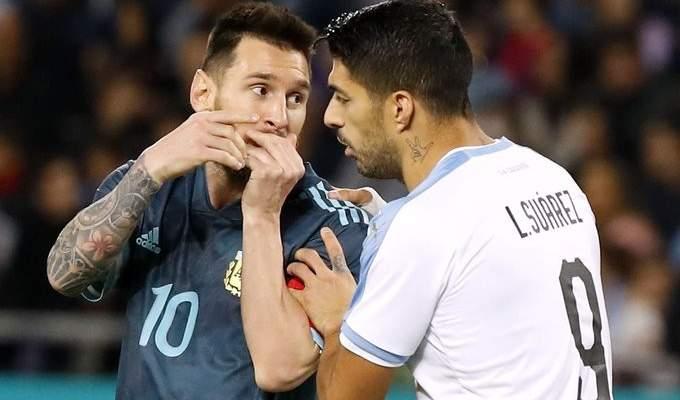 المنتخب الارجنتيني يتفادى الخسارة امام الاوروغواي باقدام ميسي