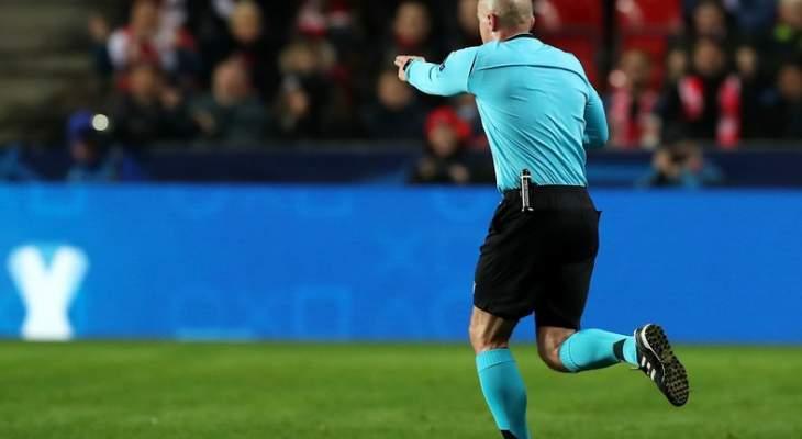 ركلة جزاء صحيحة لسلافيا براغ  والمساعد الاول في مباراة برشلونة يستحق التقدير