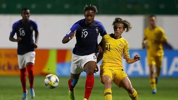 مونديال الناشئين : فرنسا تتخطى استراليا المنقوصة لتواجه اسبانيا في الربع النهائي