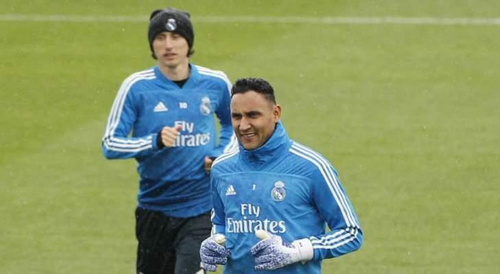 نافاس يغيب عن تدريبات ريال مدريد