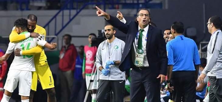 مدرب السعودية: كانت مباراة صعبة أمام لبنان