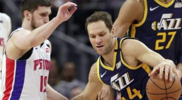 يوتا يفوز على ديترويت وباقي نتائج مباريات NBA