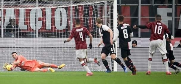 كأس ايطاليا: رونالدو ينقذ اليوفي من الخسارة امام الميلان والحسم في الاياب