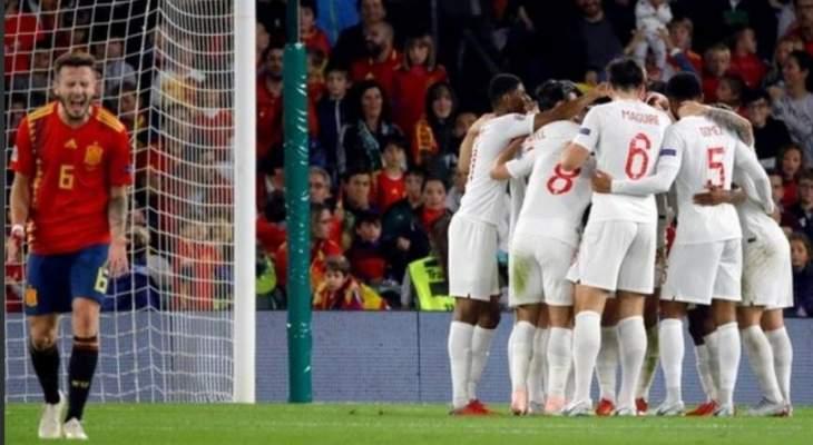 اسبانيا تستحق ركلة جزاء امام انكلترا