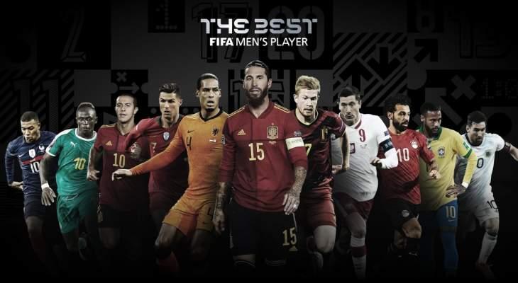 المرشحون للفوز بجائزة أفضل لاعب في العام