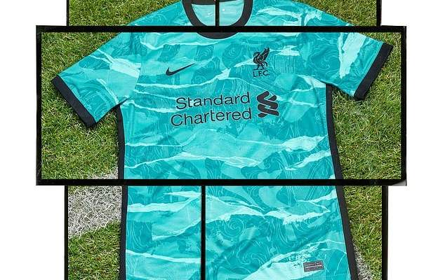 قميص ليفربول لخارج الديار الخاص بموسم 2020 - 2021
