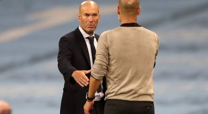 غوارديولا سعيد بتخطي ريال مدريد ويكشف عما دار بينه وبين زيدان