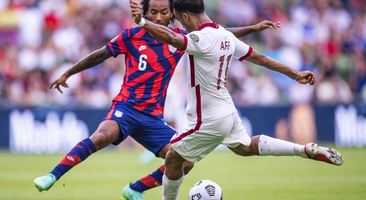 لقطات واهداف مباراة قطر واميركا