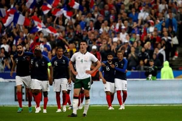 فرنسا تتغلب على ايرلندا ودياً