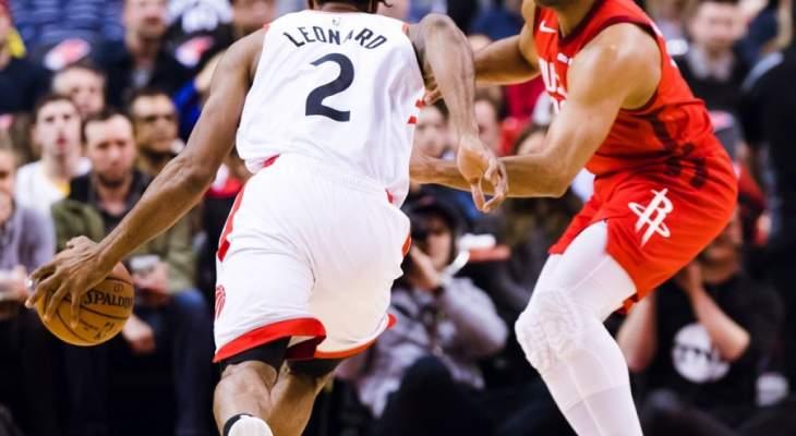 NBA: هيوستن يؤخر حسم تأهل تورنتو الى النهائيات