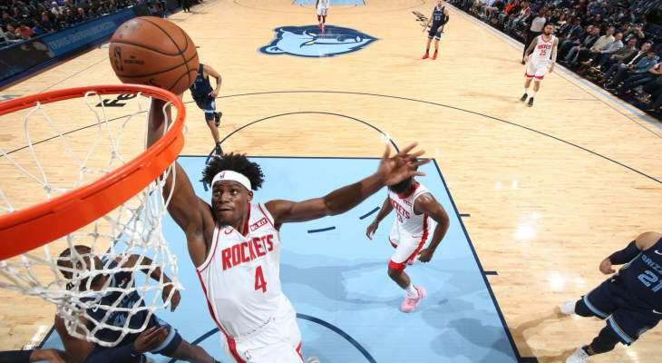 NBA: هيوستن يفوز على ممفيس و44 نقطة لجايمس هاردن