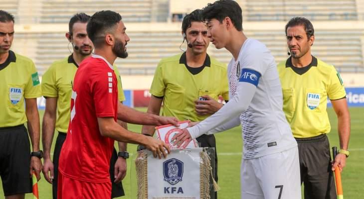 توتنهام ينشر صورة لسون مع قائد منتخب لبنان