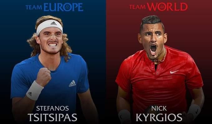تسيتسيباس الى فريق اوروبا في كأس ليفر وكيريوس مع فريق العالم